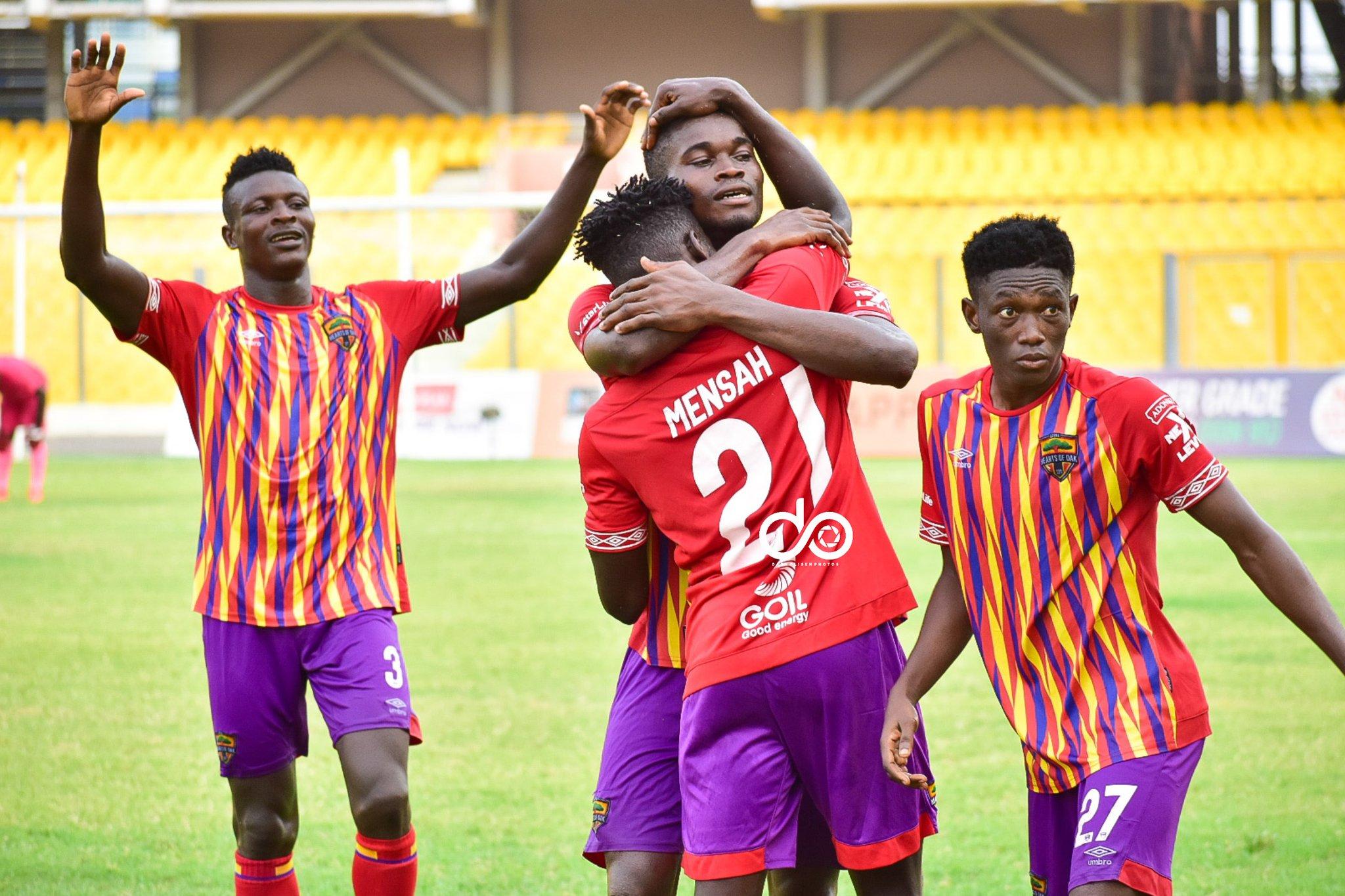 GPL Highlights: Isaac Mensah strikes again to give Hearts of Oak narrow win at Liberty