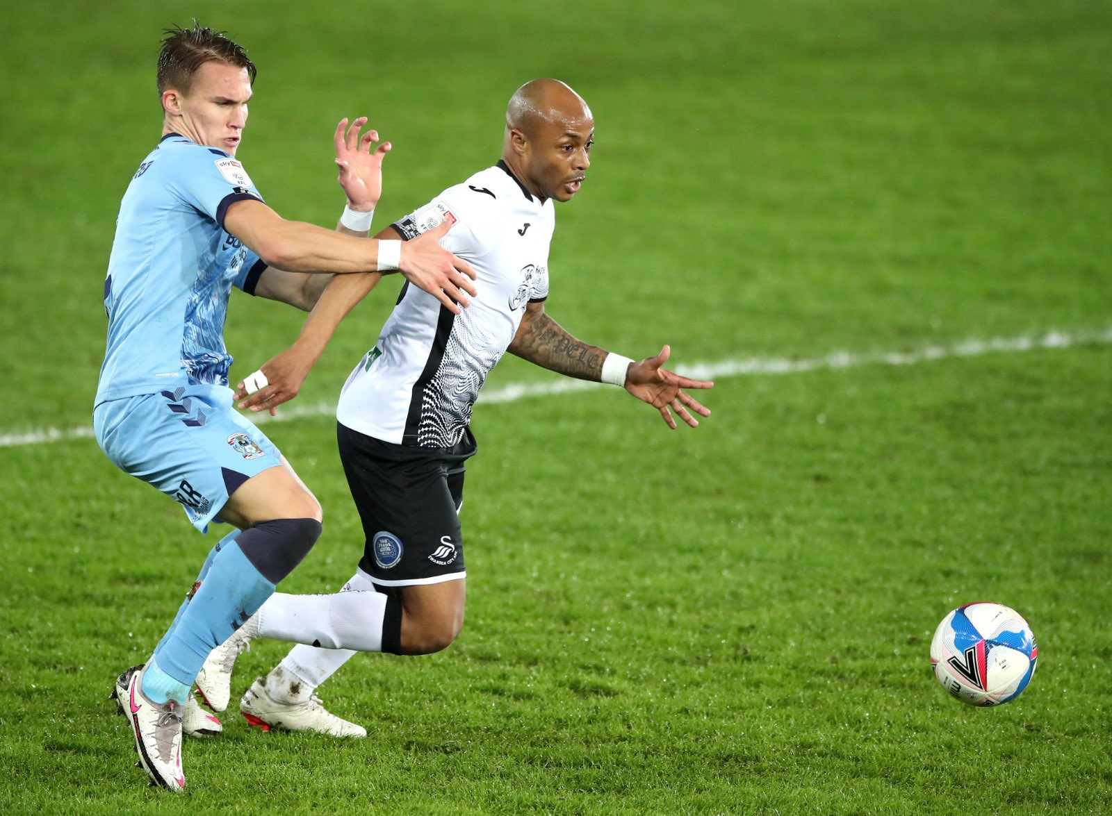 Andre Ayew impress for Swansea City in 1-0 win against Coventry