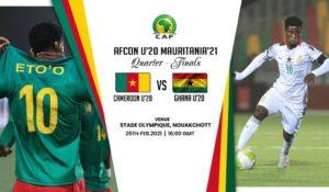 LIVE UPDATES: Cameroon v Ghana – U-20 AFCON quarter-finals