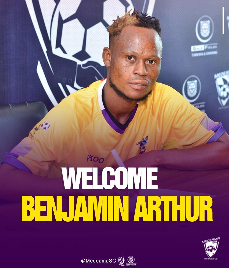 OFFICIAL: Medeama SC complete the signing of Elmina Sharks midfielder Benjamin Arthur
