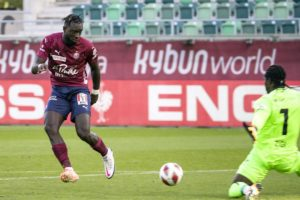 Grejohn Kyei scores for Servette against St. Gallen