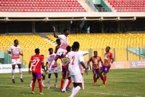 20/21 Ghana Premier League Matchday 17: Hearts of Oak beat 10-man WAFA SC 4-0