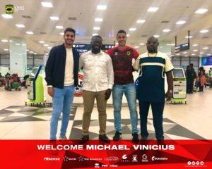 JUST IN: Asante Kotoko's new striker Michael Vinicius arrives in Ghana