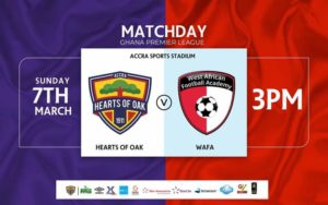 20/21 Ghana Premier League: Hearts of Oak v WAFA SC matchday 17 preview