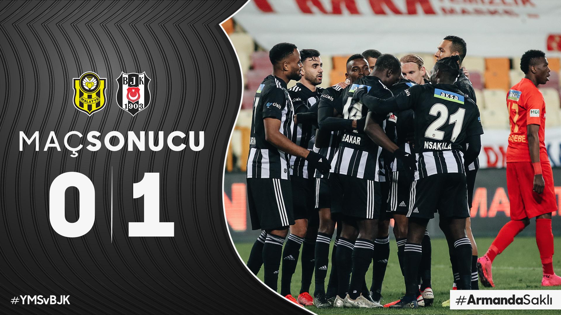 Bernard Mensah feature for Besiktas in narrow win at Yeni Malatyaspor