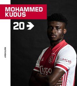Dutch Cup: Mohammed Kudus stars for Ajax in 3-0 win over Heerenveen