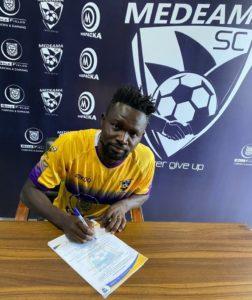 CONFIRMED: Ex-Hearts of Oak captain Vincent Atinga signs for Medeama SC