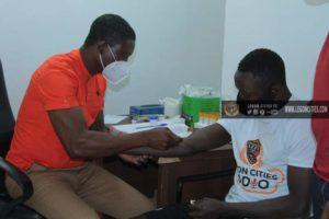 PHOTOS: Legon Cities FC new star Victorien Adebayor undergoes medical examination
