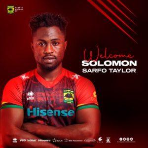 Asante Kotoko makes signing of striker Solomon Sarfo Taylor official