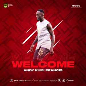 Asante Kotoko strengthens squad with the signing of attacker Andy Kumi