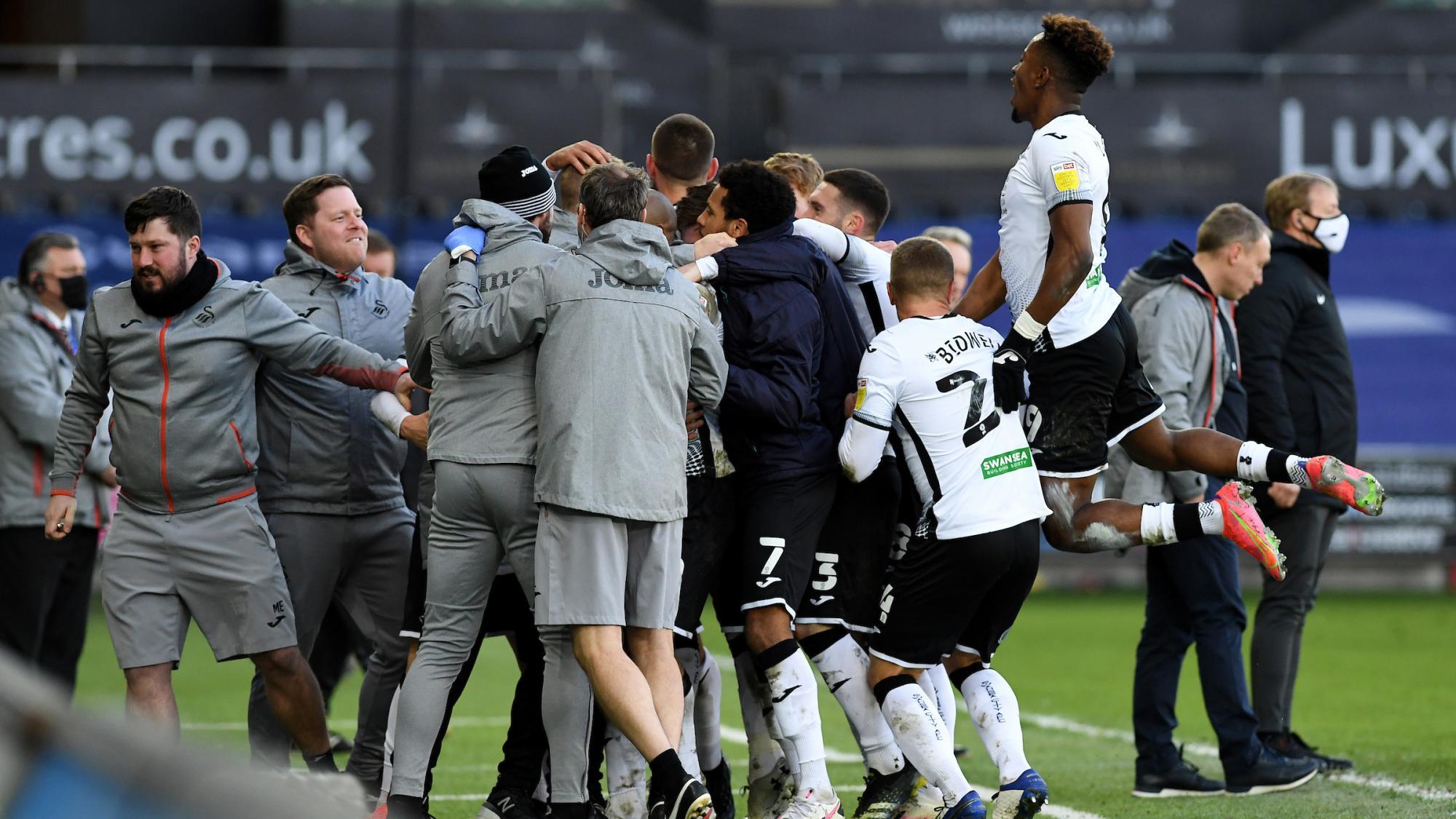 Swansea City goalkeeper Freddie Woodman lauds Andre Ayew's leadership qualities