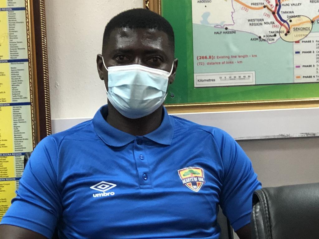 2020/21 Ghana Premier League: Hearts coach Samuel Boadu down plays talks of winning title