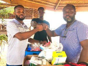 PHOTOS: Ghana Beach Soccer side Sunset Sports Keta receives donation of first aid supplies
