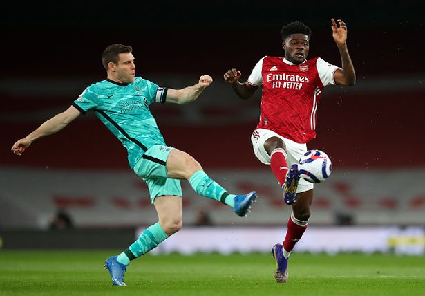 Thomas Partey features in Arsenal home defeat to Liverpool