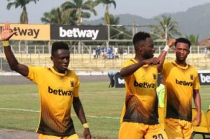 GPL HIGHLIGHTS: Late Amos Addai strike sees Ashanti Gold beat Hearts of Oak