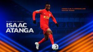 I want to achieve greatness with FC Cincinnati, says Ghanaian attacker Isaac Atanga