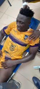 Medeama SC midfielder Justice Blay suffers broken leg injury