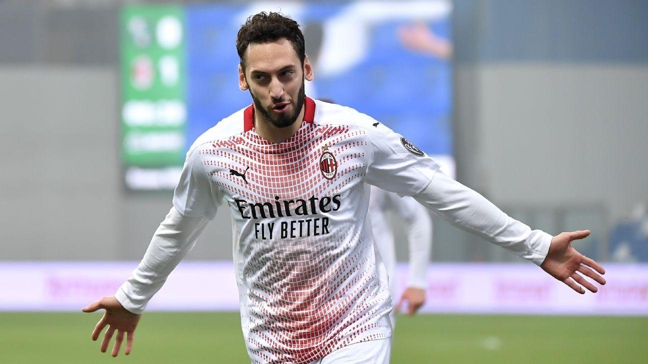 Transfer Talk: Arsenal, Chelsea look to Milan's Hakan Calhanoglu