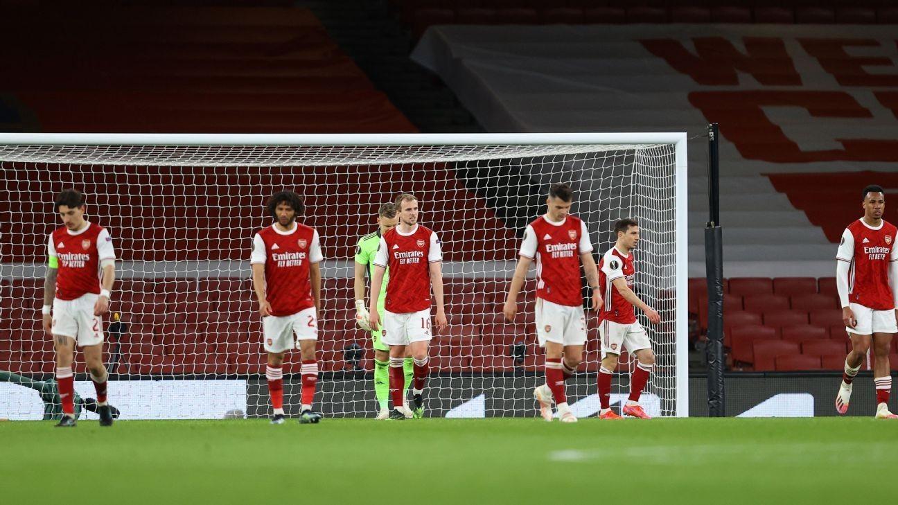 Arsenal give up late goal as Slavia salvage draw