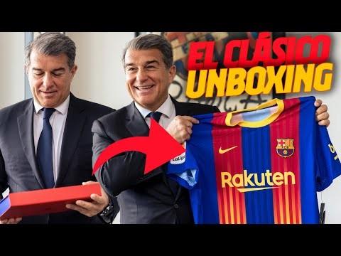 🔥📦 JOAN LAPORTA's UNBOXING of EL CLÁSICO JERSEY 🔥