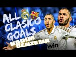 Karim Benzema | ALL El Clásico GOALS vs Barcelona!