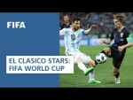 EL CLASICO! Real Madrid & FC Barcelona stars at the FIFA World Cup