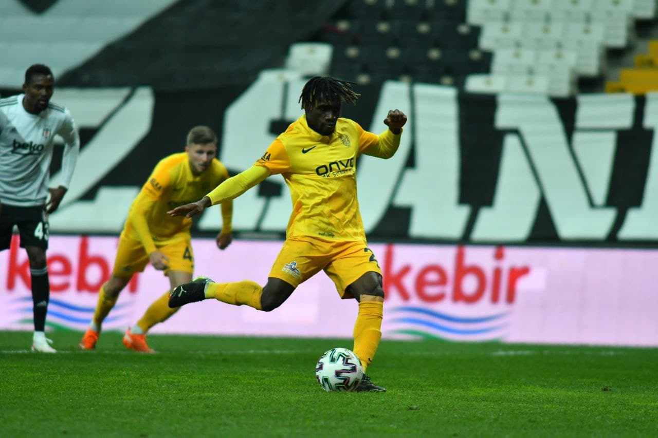 Ghana's Joseph Paintsil excited after netting brace to help MKE Ankaragucu avoid defeat at Besiktas