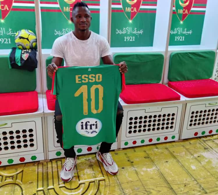 PICTURES: Ghana forward Joseph Esso handed preferred No.10 jersey at MC Alger