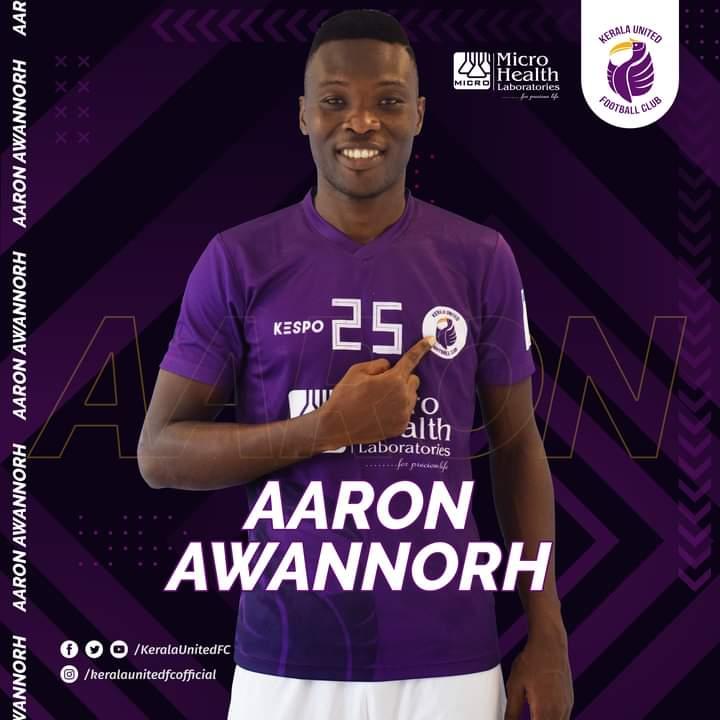 Ghanaian forward Aaron Awannorh joins Indian club Kerala United on loan