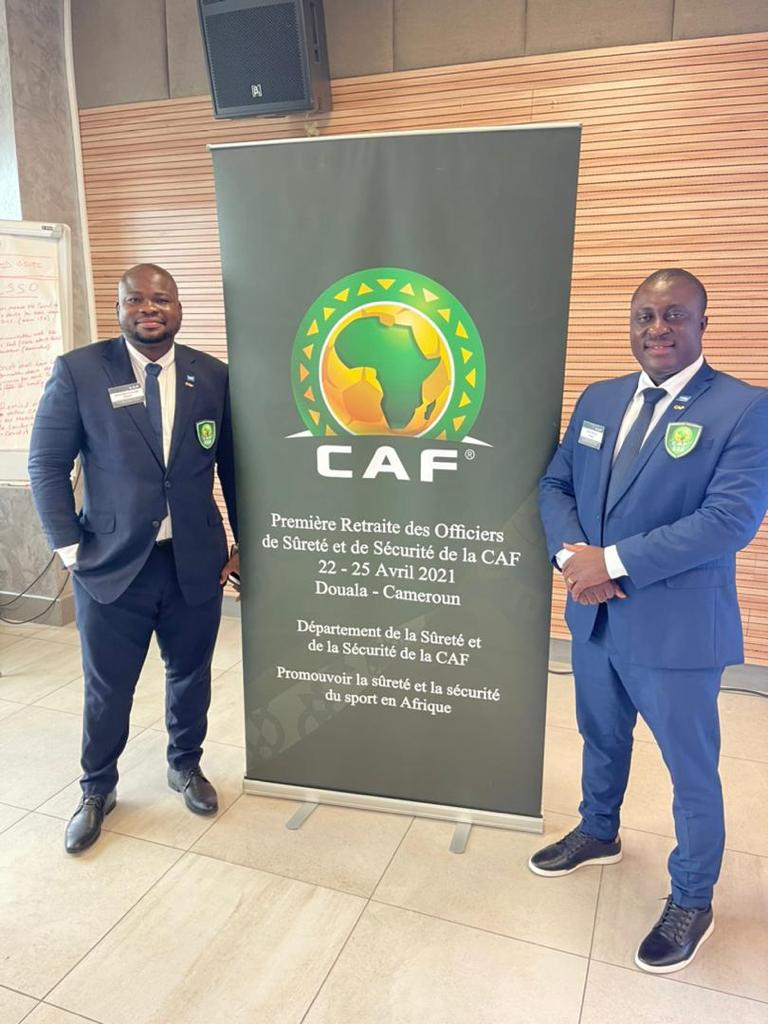 Nick Owusu and Julius Ben Emunah in Douala for two-day CAF Safety and Security Officers retreat