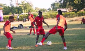 Hearts of Oak hold training session in Bono East ahead Bechem United tie