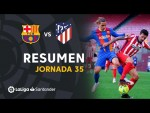Resumen de FC Barcelona vs Atlético de Madrid (0-0)