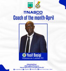 Womens Football: Yussif Basigi wins Nasco Coach of the month for April
