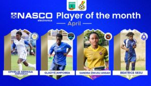 Sandra Owusu-Ansah, three others nominated for NASCO player of the month for April
