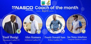Coach Yusif Basigi, three others shortlisted for coach of the month award for April