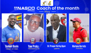 GPL: Boadu, Barreto among four coaches shortlisted for NASCO Coach of the Month for May
