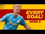 All Goals Week 8 - Distance SCREAMERS, Volleys,  and More!
