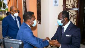 CAF delegation arrive in Yaoundé