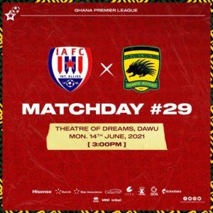 20/21 Ghana Premier League matchday 29: Inter Allies v Asante Kotoko preview