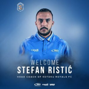 Kotoku Royals appoints Serbian trainer Stefan Ristic as new head coach