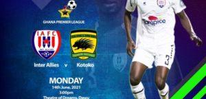 Ghana Premier League: Inter Allies announce Media Accreditation for Asante Kotoko match