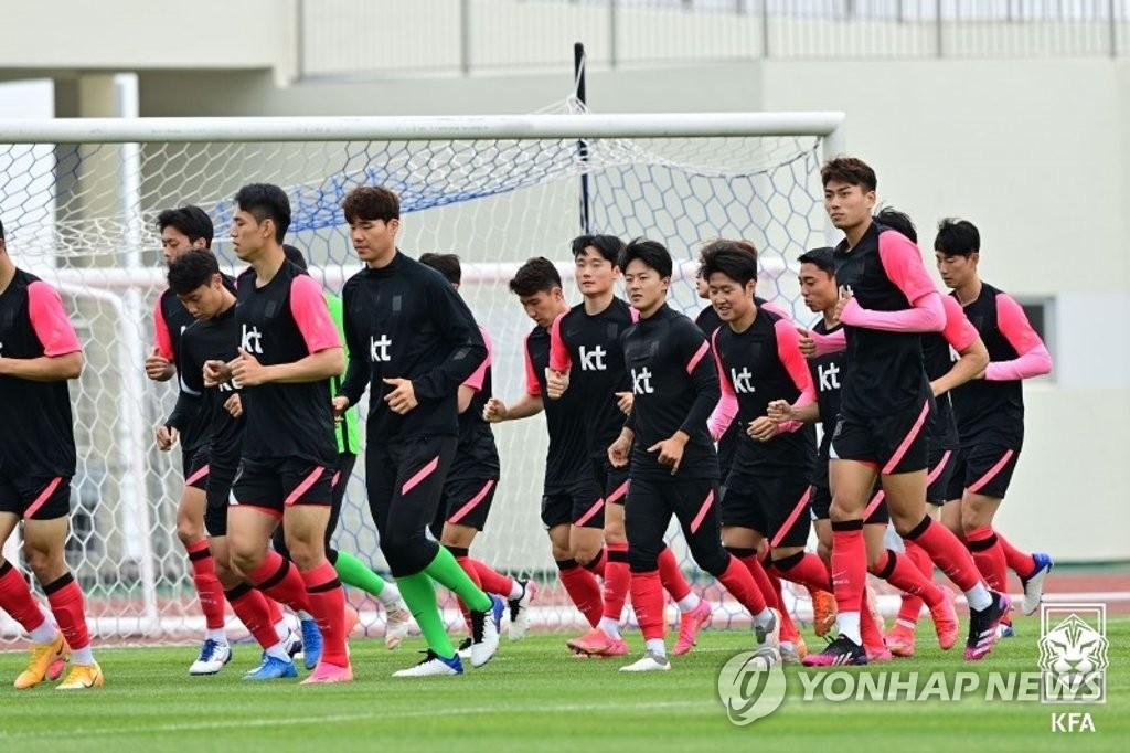 South Korea begin training ahead of friendly against Meteors