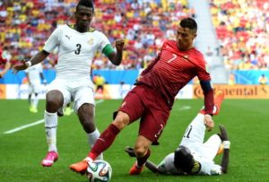 Ronaldo's brace sees Portuguese great joining Gyan as only 2 players to score at 9 consecutive major tournaments