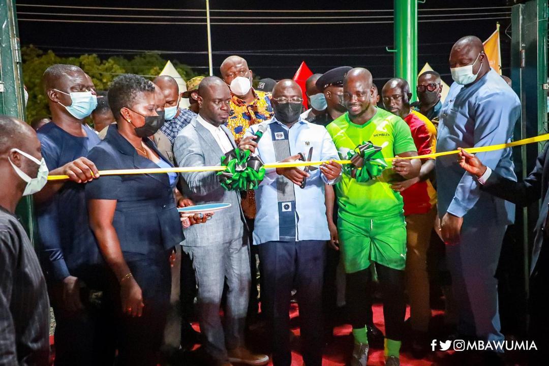 Vice President Dr. Mahamudu Bawumia commissions Adjiringanor astroturf