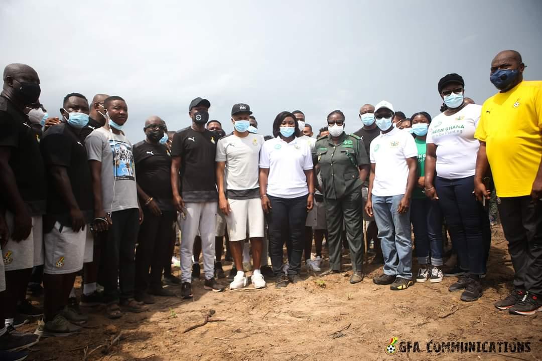 Green Ghana Campaign: Black Stars plant trees in Cape Coast ahead of Ivory Coast friendly tie
