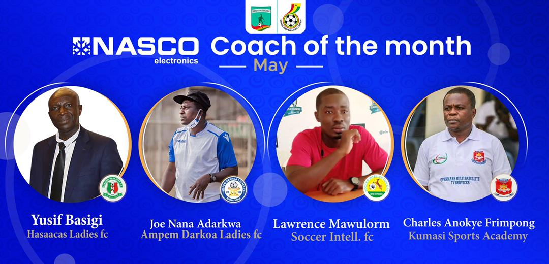 WPL: Adarkwa, Basigi, Mawulorm and Frimpong nominated for NASCO Coach of the Month for May