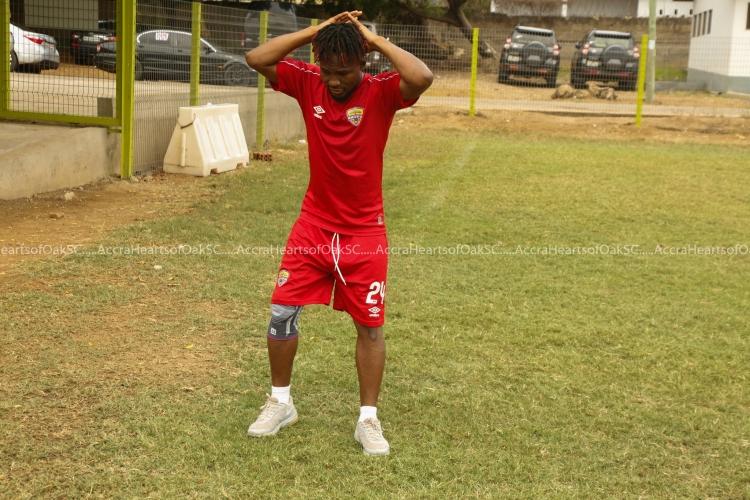 Abdul-Aziz Nurudeen is back in training with Hearts of Oak