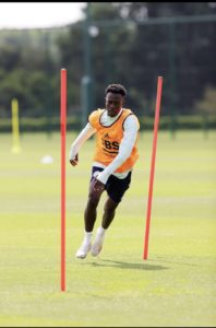 Ghanaian youngster Kamal Sowah steps up pre-season training with Leicester City