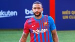 Memphis Depay fanboys over Lionel Messi at Barcelona unveiling