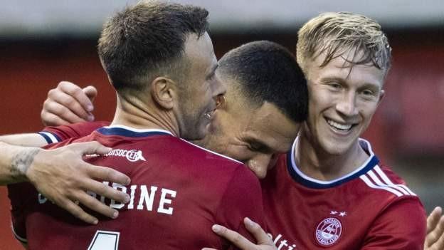 Aberdeen thrash Swedes Hacken in Europe